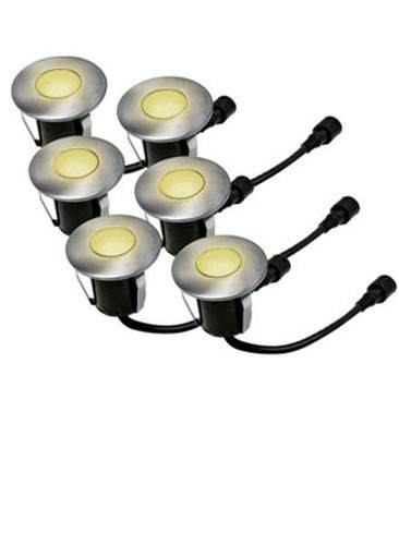 Easy Connect 6 Mini Einbaulichter, Ø 4,5 cm, 5 LED - 1 W - warmweiß