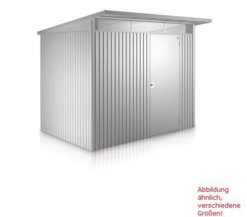 Gerätehaus AvantGarde Gr. A6 silber-metallic mit Doppeltür