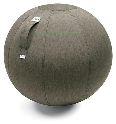 VLUV AQUA Outdoor-Sitzball, Dark Smoke, Größe Ø 60-65 cm, ergonomisches Sitzen und Rückentraining in