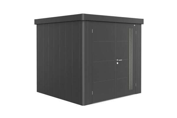 Gerätehaus Neo 2B Doppeltür, dunkelgrau-metallic