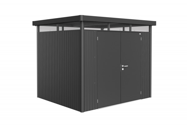 Biohort Gerätehaus HighLine Gr. H3 zweiflügelig dunkelgrau-metallic