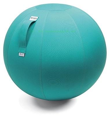 VLUV AQUA Outdoor-Sitzball, Aruba Blau, Größe Ø 60-65 cm, ergonomisches Sitzen und Rückentraining in