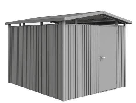 Biohort Gerätehaus Panorama Gr. P5 quarzgrau-metallic mit Standardtür