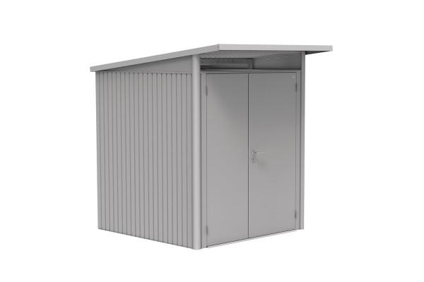 Gerätehaus AvantGarde Gr. A1 silber-metallic mit Doppeltür schmal