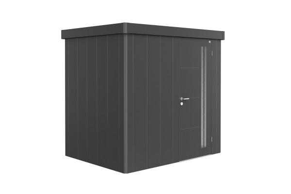 Gerätehaus Neo 1B Standardtür, dunkelgrau-metallic