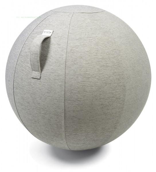 VLUV STOV Stoff-Sitzball, Concrete, Größe Ø 50-55 cm, ergonomisches Sitzen und Rückentraining in ein