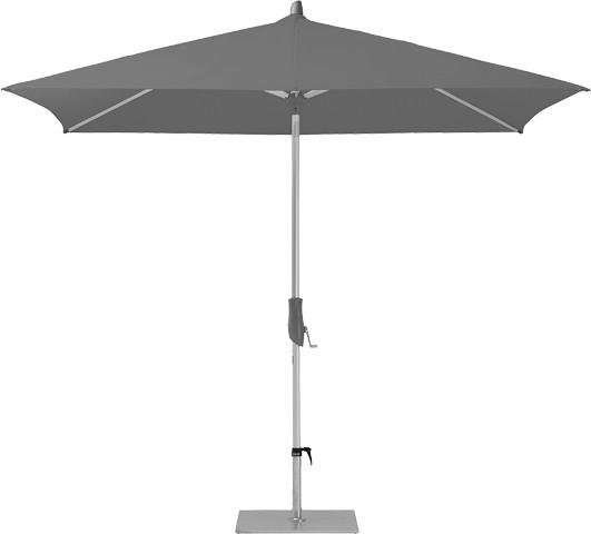 Glatz Sonnenschirm Alu Twist 210x150 cm, SK 2, Des. 157, stone grey, ohne Befestigung