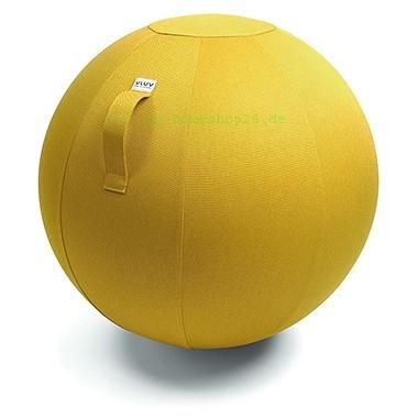 VLUV Leiv Stoff-Sitzball, Mustard, Größe Ø 70-75 cm, ergonomisches Sitzen und Rückentraining in eine