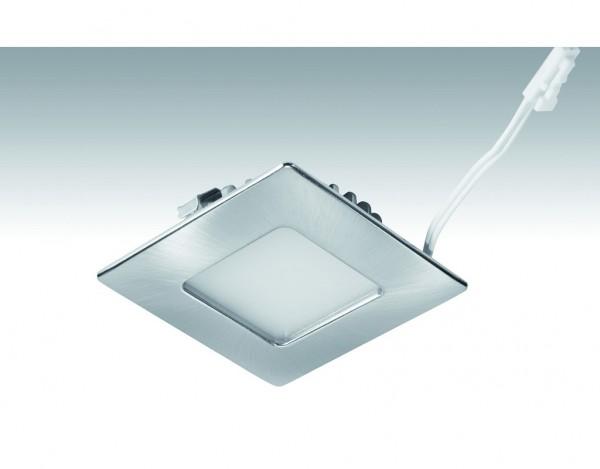 Niedervolt NV-LED-Downlight Shot-Quadro_3,4 Watt 63,5x63,5mm 238 Edelstahl