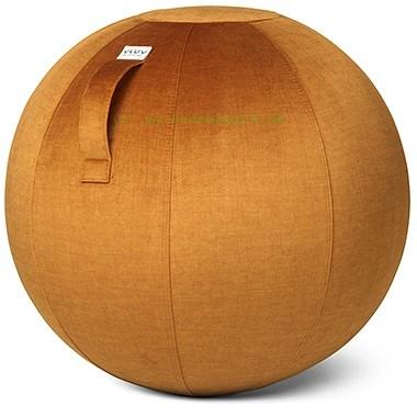 VLUV VARM Stoff-Sitzball, Pumkin, Größe Ø 70-75 cm, ergonomisches Sitzen und Rückentraining in einem