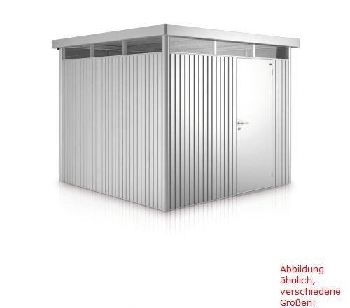 Biohort Gerätehaus HighLine Gr. H1 silber-metallic