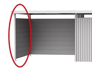 Seitenwand für Seitendach zu Gerätehaus HighLine H2 silber-metallic