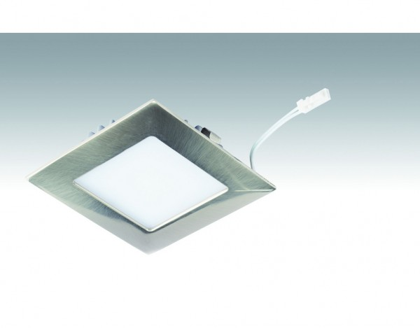 Niedervolt NV-LED-Downlight Big Shot-Quadro_7,5 Watt 238 Edelstahl