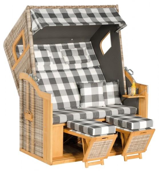 Strandkorb Rustikal 205Z 2-Sitzer XL, antik weiß Des 1210