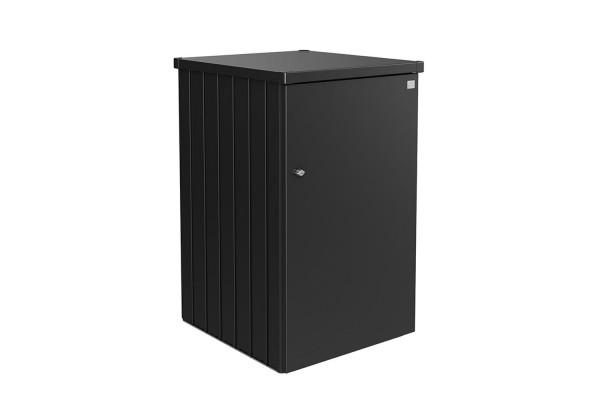 Mülltonnenbox Alex Variante 3 Seitenwände dunkelgrau-metallic, Tür und Dach in dunkelgrau-metallic