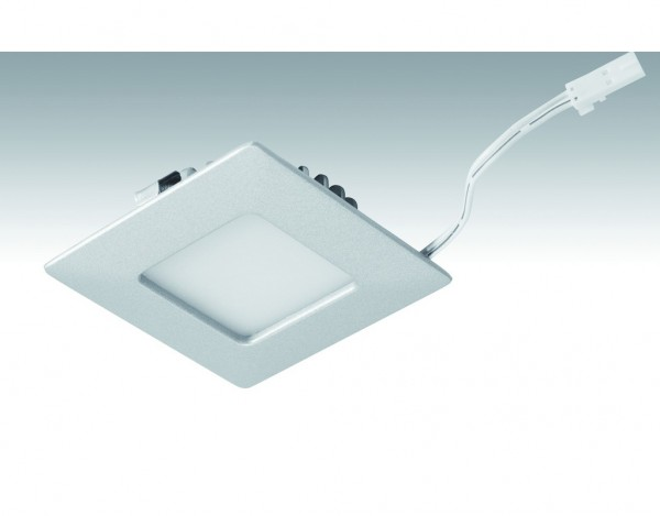 Niedervolt NV-LED-Downlight Shot-Quadro_3,4 Watt 63,5x63,5mm 249 Titan