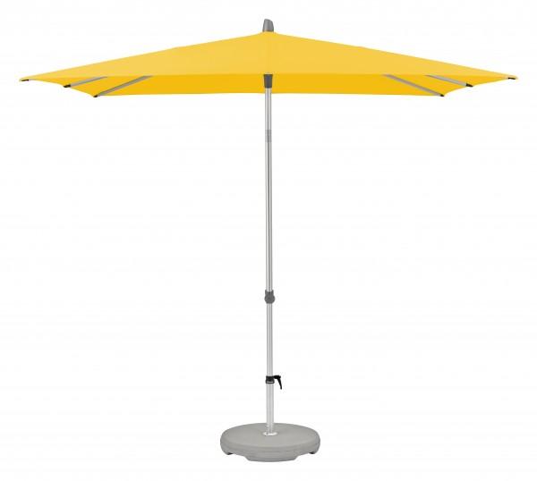 Glatz Sonnenschirm Alu Smart, Stoffklasse 2, Dessin 146 yellow, 210 x 150 cm ohne Befestigung