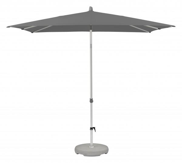 Glatz Sonnenschirm Alu Smart 200x200 cm, SK 2, Des. 157, stone grey, ohne Befestigung
