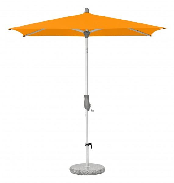 Glatz Sonnenschirm Alu Twist 240x240 cm, SK 5, Des. 512, mandarine, ohne Befestigung