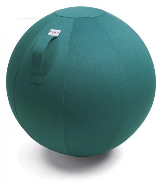 VLUV Leiv Stoff-Sitzball, Dark Petrol, Größe Ø 50-55 cm, ergonomisches Sitzen und Rückentraining in