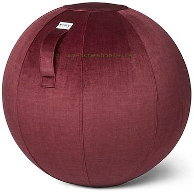 VLUV VARM Stoff-Sitzball, Chianti, Größe Ø 70-75 cm, ergonomisches Sitzen und Rückentraining in eine