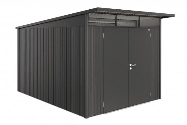 Gerätehaus AvantGarde Gr. A5 dunkelgrau-metallic mit Doppeltür