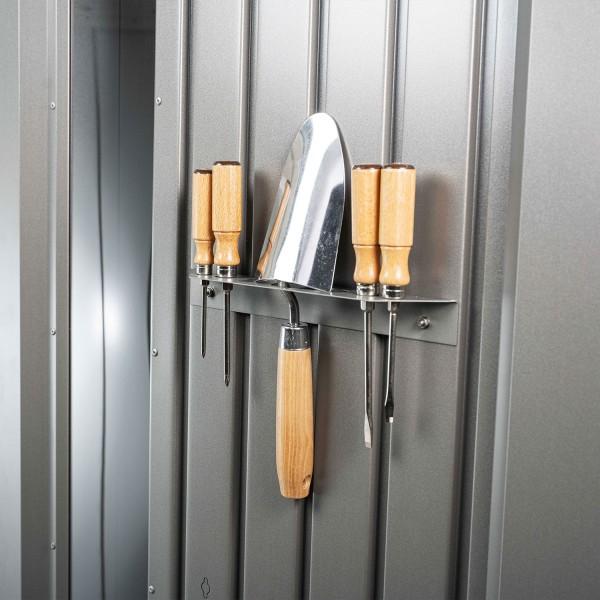 Werkzeughalter 2 Stk. Gerätehaus Neo, dunkelgrau-metallic