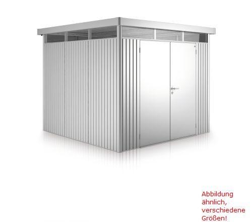 Biohort Gerätehaus HighLine Gr. H4 zweiflügelig, dunkelgrau-metallic