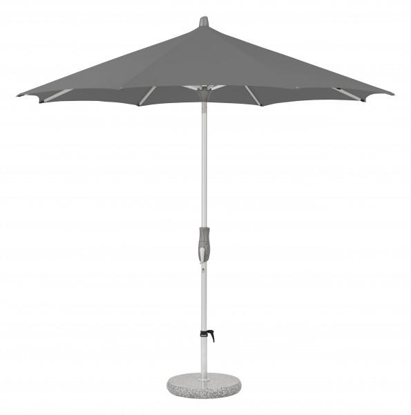 Glatz Sonnenschirm Alu Twist 270 cm, SK 2, Des. 157, stone grey, ohne Befestigung