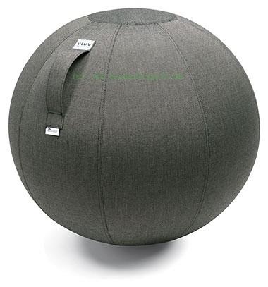 VLUV AQUA Outdoor-Sitzball, Charcoal, Größe Ø 60-65 cm, ergonomisches Sitzen und Rückentraining in e