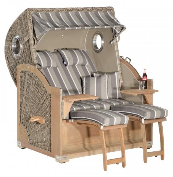Strandkorb Rustikal 500Z 2-Sitzer XL, Basaltgrey,Des 1221