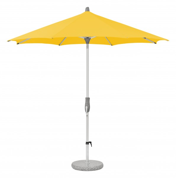 Glatz Sonnenschirm Alu Twist 300 cm, SK 2, Des. 146, yellow, ohne Befestigung