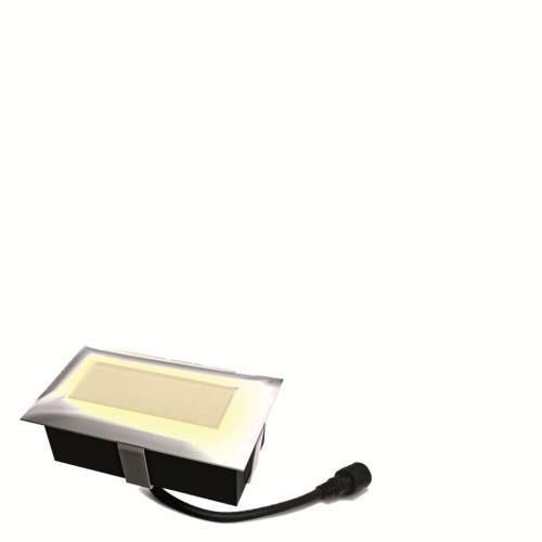 Easy Connect Einbaustrahler - 6 x 10 cm, 28 LED - warmweiß