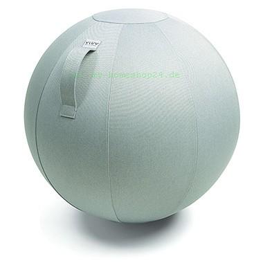 VLUV Leiv Stoff-Sitzball, Silver, Größe Ø 60-65 cm