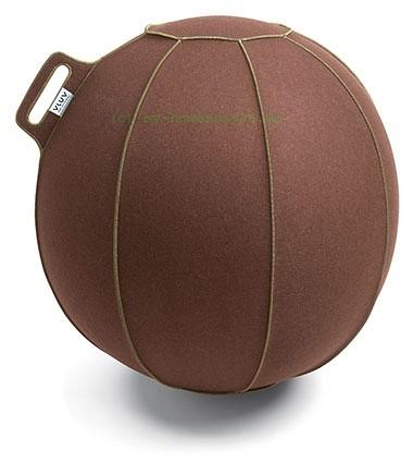 VLUV VELT Filz-Sitzball, Braun-Meliert/Grün, Größe Ø 70-75 cm