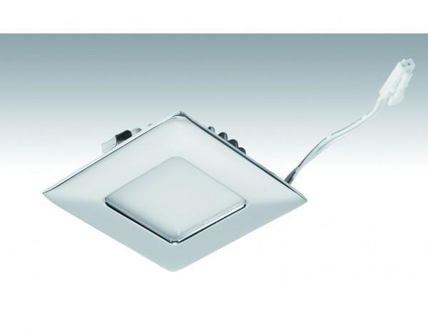 Niedervolt NV-LED-Downlight Shot-Quadro_3,4 Watt 63,5x63,5mm 242 Chrom