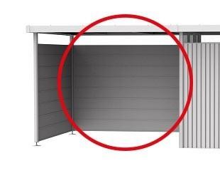 Rückwand für Seitendach zu Gerätehaus HighLine H2-H5 silber-metallic