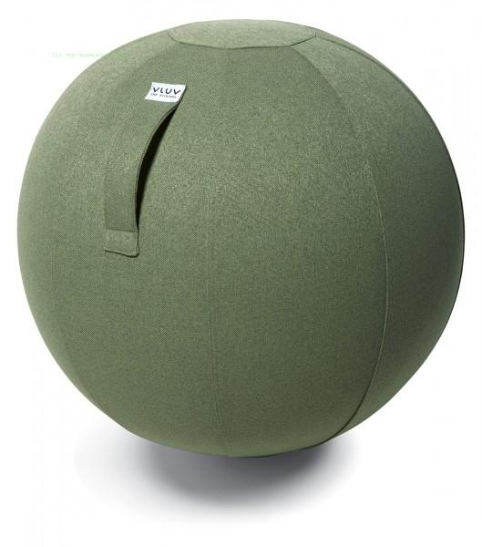 VULV SOVA Stoff-Sitzball, Pesto, Größe Ø 60-65 cm, ergonomisches Sitzen und Rückentraining in einem,
