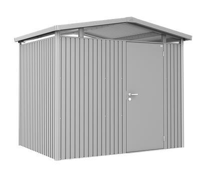Biohort Gerätehaus Panorama Gr. P2 silber-metallic mit Standardtür