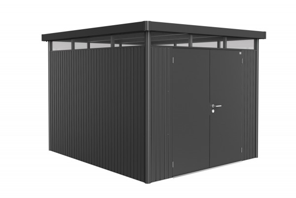 Biohort Gerätehaus HighLine Gr. H5 zweiflügelig dunkelgrau-metallic