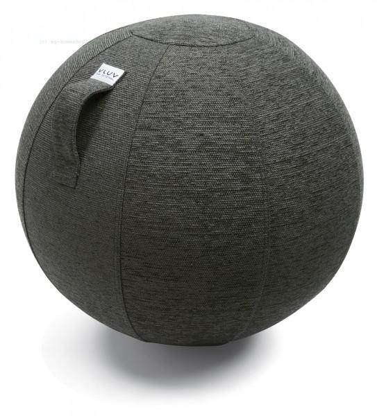 VLUV STOV Stoff-Sitzball, Anthrazit, Größe Ø 60-65 cm, ergonomisches Sitzen und Rückentraining in ei