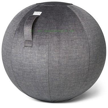 VLUV VARM Stoff-Sitzball, Anthracite, Größe Ø 70-75 cm, ergonomisches Sitzen und Rückentraining in e