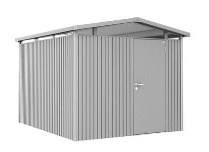 Biohort Gerätehaus Panorama Gr. P5 silber-metallic mit Doppeltür