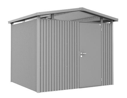 Biohort Gerätehaus Panorama Gr. P3 quarzgrau-metallic mit Doppeltür