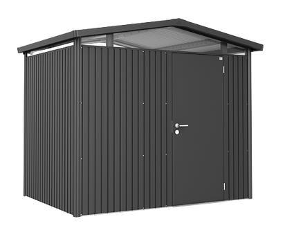 Biohort Gerätehaus Panorama Gr. P2 dunkelgrau-metallic mit Doppeltür